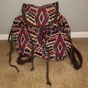 Tribal pattern small backpack.